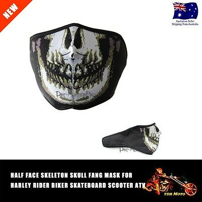 HALF FACE SKULL Skeleton For CS Airsoft Paintball Tactical