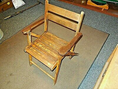 Vintag antique Small Wood/Wooden Slat Folding Childs Chair!
