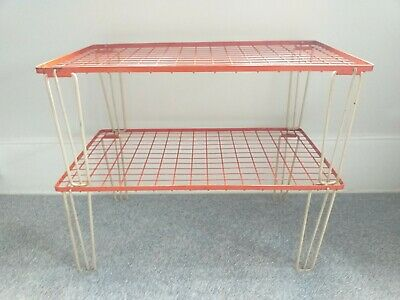 RARE Old Vintage Camper van/Retro midcentury fold away stacking shelves.