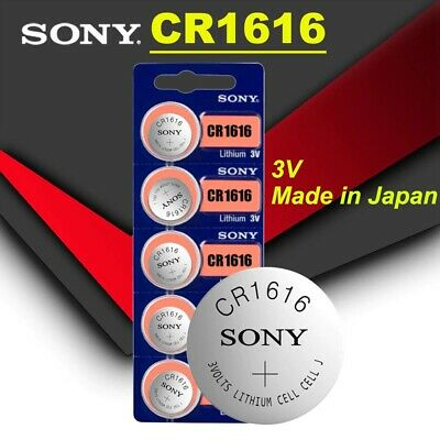 SONY CR1616 3v 60mAh lithium Battery button cell/coin for watches