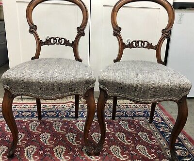 Pair of Victorian Ballon Back Dining Chairs
