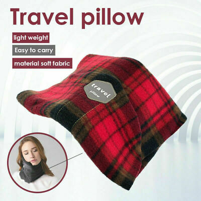 T-Pillow Portable Soft Comfortable Travel Pillow Proven Neck Support Sitting US