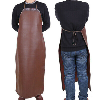 PU Leather Welding Apron Welder Protective Clothing Mechanic Gear Shield Cover
