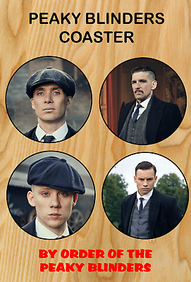 Peaky Blinders Coaster Set Tommy Shelby Brothers Cillian Murphy Printed Fathers