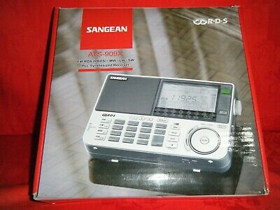 Sangean ATS-909X World Band Synthesize Receiver - Silver - Looks like New