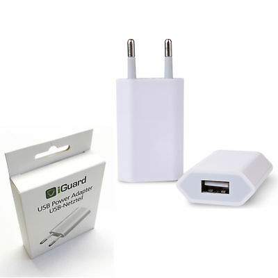 Iguard Poweradapter 5W Blanco Adaptador de Corriente IPHONE Galaxy Red Enchufe