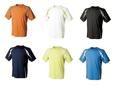 Men's Performance Team Sport Wicking Sports Tombo T-Shirt Top TL541