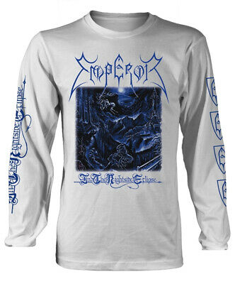 Emperor 'In The Nightside Eclipse' (White) Long Sleeve Shirt - NEW & OFFICIAL!