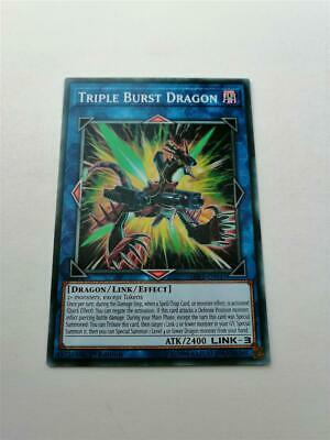 "YUGIOH!! ""Triple Burst Dragon"" SDRR-EN045! Common! Near Mint! 1. Edition!"