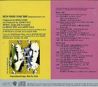 "Brian Eno Been There Done That USA CD single (CD5 / 5"") promo PRO-CD-4493"