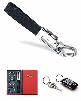 Mehr Keychain - Leather Detachable Key Holder - Valet Car Key Chain KC8 - Black