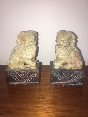 Very Fine Pair Of Chinese Stone Book Ends