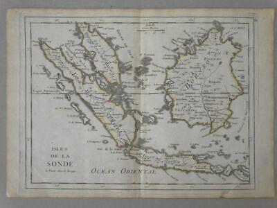 Malaysia Java Indonesia Asien Asia - Kupferstich engraving Karte map Rouge 1760