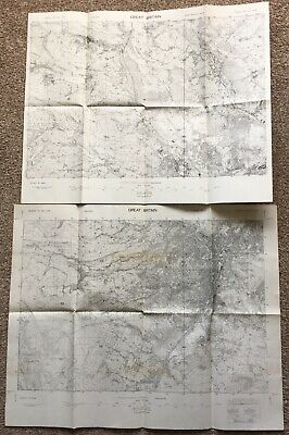 2 Vintage GSGS Contour Maps of Sheffield Area 3906 47/40 2nd Provisional Edition