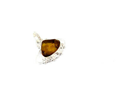 Citrine Quartz .925 Silver Plated Handmade Pendant Jewelry JC10222