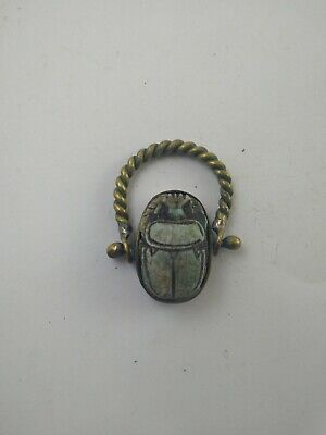 RARE ANCIENT EGYPTIAN ANTIQUE RING Scarab 1785-1569 BC (2)