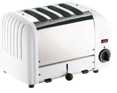 Dualit Classic Vario Four Slot Toaster 4 Slice White and Stainless Steel Finish