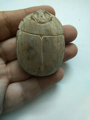 RARE ANCIENT EGYPTIAN ANTIQUE Scarab 1584-1419 BC