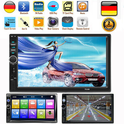 Doppel Din Auto Stereo Bluetooth Radio Video Player 7 Zoll HD Touchscreen Stereo