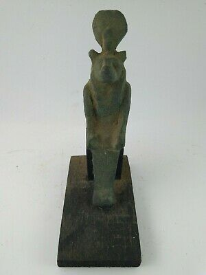 ANCIENT EGYPTIAN ANTIQUE SEKHMENT Bronze Statue 1861-1473 BC.
