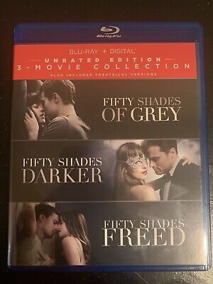 Fifty Shades: 3-Movie Collection, Blu Ray Trilogy (Grey, Darker & Freed)