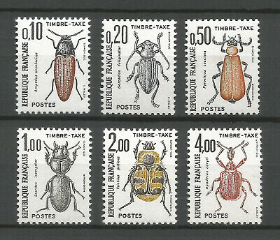 FRANCE 1982 - Taxe Stamps Timbres-Taxe YT. n° 103-108 MNH ** Coleopteran Insects