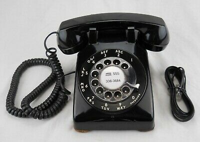 Western Electric 1956 black 500 C/D (M) rotary telephone - Works (#Q05)