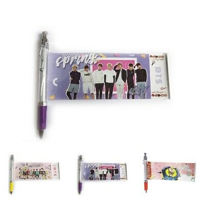 KPOP BTS Ink Gel Pen Photo Gift BallPoint Pens Pull Out Banner JUNGKOOK JIMIN V