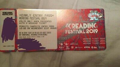 Reading Festival 2019 Early Bird/Entry Ticket