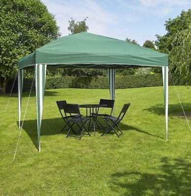 Replacement Polyester Green/White Canopy/ Cover for a 3m Pop Up Gazebo Frame..