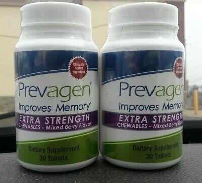 Prevagen Extra Strength Chewables Mixed Berry (2 X 30 ) 60 Capsules Exp 2022