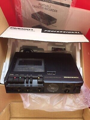 Marantz PMD201 Speed Cassette Recorder Complete In Box NIB Tested/working.