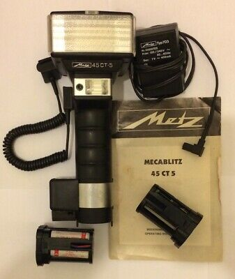 Metz 45 CT-5 Swivel Bounce Hammer Head Flash for Hasselblad Mamiya Inc. Charger