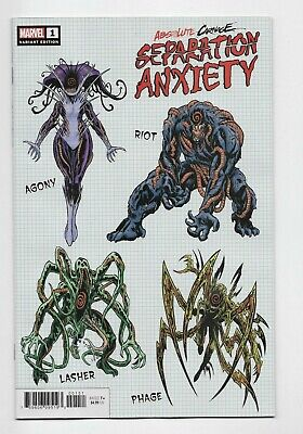Absolute Carnage Separation Anxiety #1 Marvel Comics 2019 Brian Level 1:10