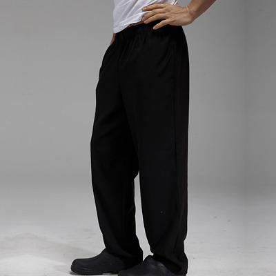 Black Chef Pants Hotel Working Pants Waiter Overalls Uniforms Cook Pants Ths01