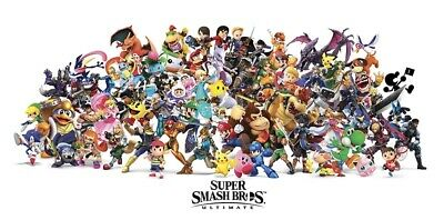 Super Smash Brothers Ultimate 24 X 12 Poster