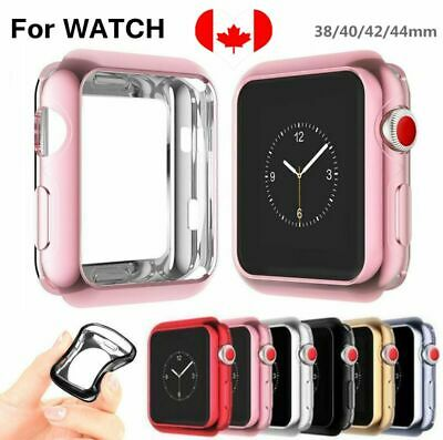 For Apple Watch Series 3 4 2 1 i Watch 38/42/40/44 Plating Bumper Soft TPU Case