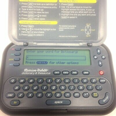 Franklin MWD-1440 Dictionary & Thesaurus + Bookman Word Games - New Batteries