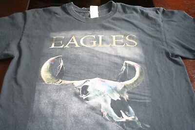 History of the Eagles 2015 Tour Concert T-Shirt Men's Size L Double Sided Black