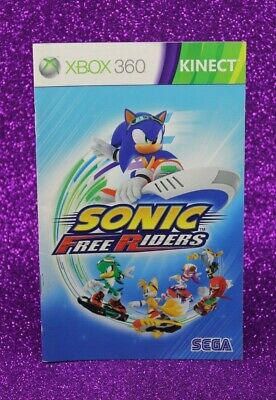 Instruction Booklet/Manual For Sonic Free Riders Kinect Xbox 360 (No Game) 📚