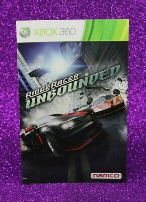 Instruction Booklet/Manual Only For Ridge Racer Unbounded Xbox 360 (No Game) 📚