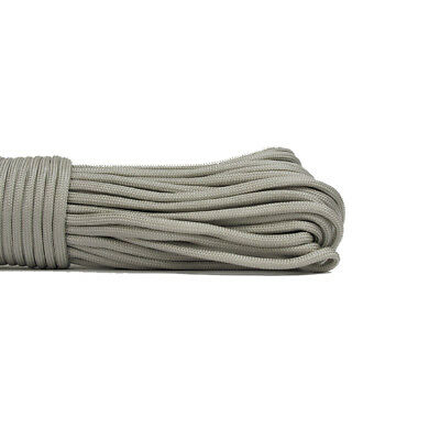 550 Paracord Parachute Cord Lanyard Mil Spec Type III 7 Strand Core 100 FT Grey