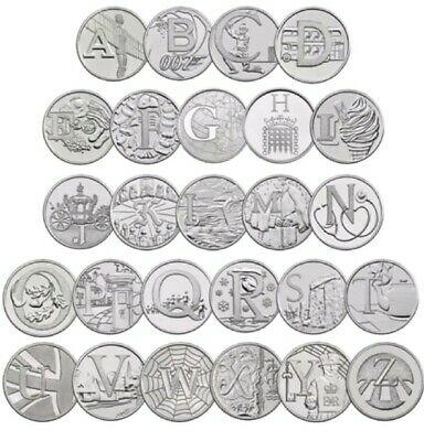 All 26 A-Z Coin 2018 10P Letters Full Set Alphabet Ten Pence  Uncirculated Rare