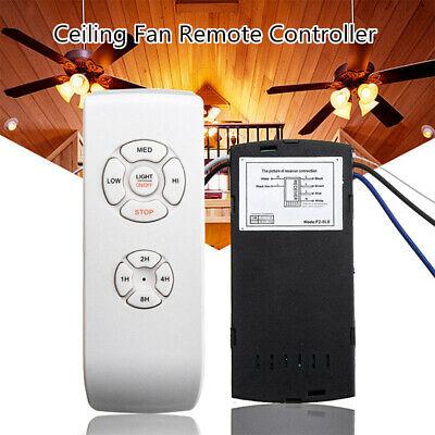 110-240V Universal Ceiling Fan Lamp Speed Remote Control Kit Timing Wireless