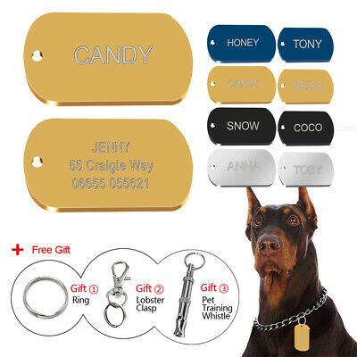 Stainless Steel Army Nameplate Dog Tags Military Dog ID Tag with Personalized