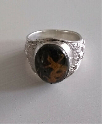 Sterling Silver Vintage Siam c.1930s Ring - Size 8