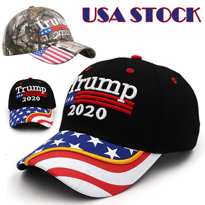 Donald Trump 2020 MAGA Camo Embroidered Hat Keep Make America Great Again Cap Yc