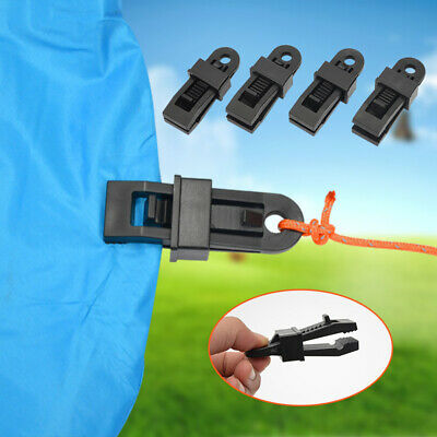Tarp Clips Clamp Snap Awning Set Car Boat Cover Tent Emergency Down A8S4 H4I5