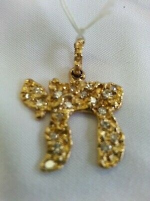 14K Solid Yellow Gold, Pendant With Diamonds