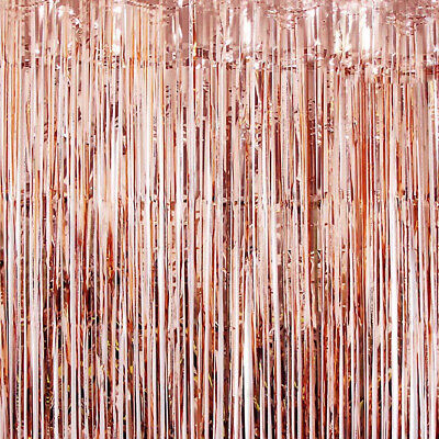 Foil Fringe Tinsel Shimmer Curtain Door Wedding Happy Birthday Party DECORATIONS